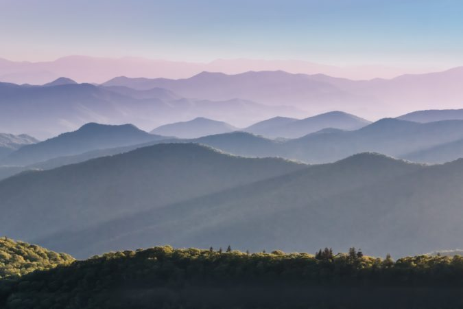 """Cowee Mountain Overlook, Milepost 430"" by Rob Travis Photography"