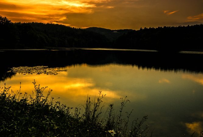 """Bass Lake Sunset"" by Victor Ellison Fine Art Photography"