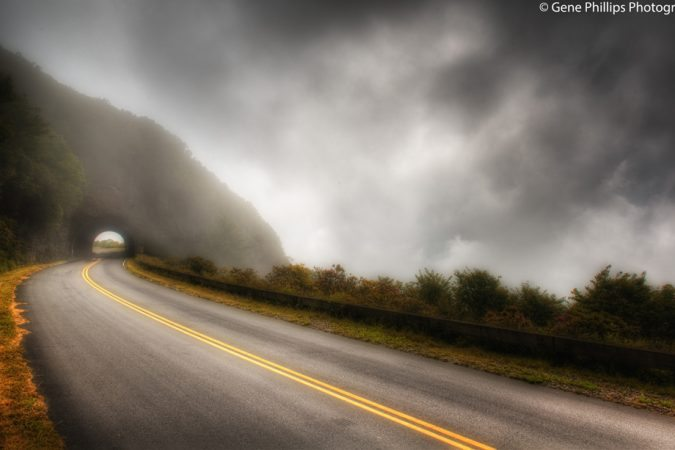 """Craggy Pinnacle Tunnel Blue Ridge Parkway Milepost 364.4"" by Gene Phillips Photography"