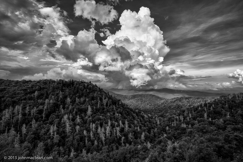 """Eagle Fork Overlook, Blue Ridge Parkway Milepost 418.0"" by John MacLean Photography"