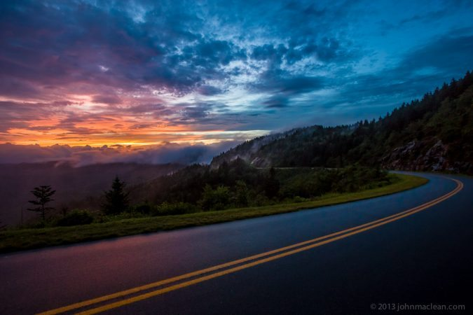"""Sunset at Blue Ridge Parkway Milepost 432"" by John MacLean Photography"
