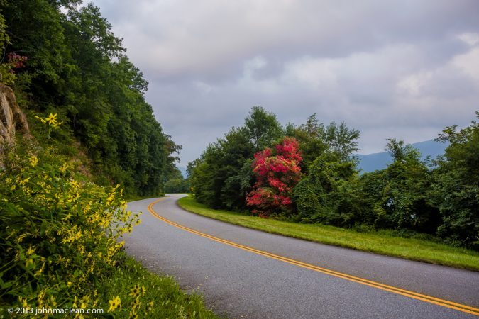 """Cove Field Overlook Blue Ridge Parkway Milepost 439.0"" by John MacLean Photography"