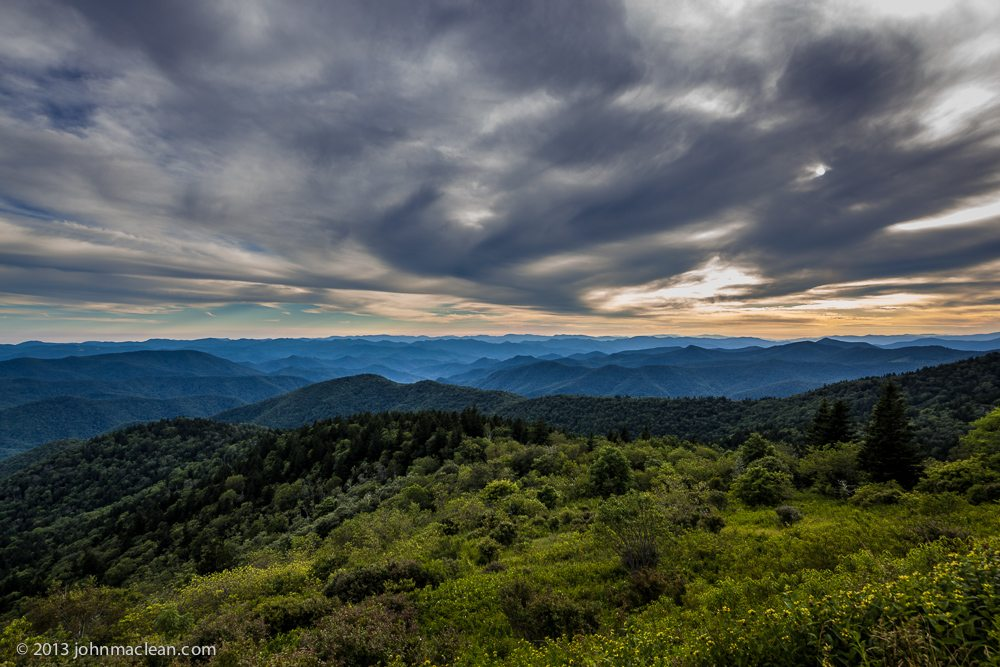 """Overcast View from Cowee Mountain Overlook"" by John MacLean Photography"