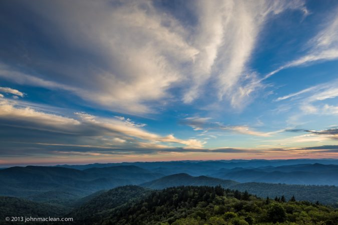 """Cowee Mountain Overlook, Milepost 430.7"" by John MacLean Photography"