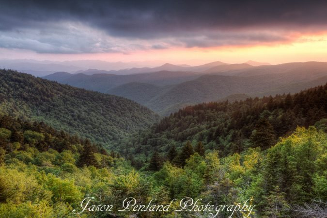 """Sunset at Wolf Mountain Overlook"" by Jason Penland Photography"