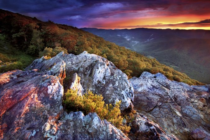 """Ravens Roost, Blue Ridge Parkway Milepost 11"" by Brent McGuirt Photography"