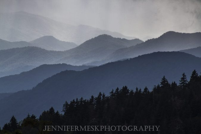 """""""View from Richland Balsam Trail Blue Ridge Parkway Milepost 431"""" by Jennifer Mesk Photography"""