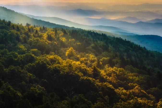"""Grandfather Mountain Blue Ridge Parkway Milepost 305"" by Miles Smith"