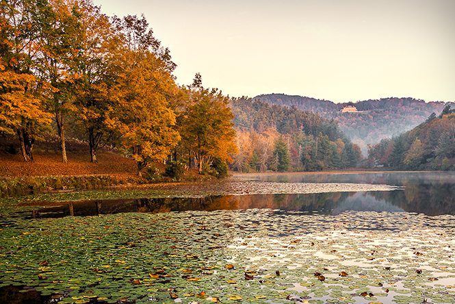 """""""Bass Lake at Moses H. Cone Memorial Park Milepost 294"""" by Victor Ellison Fine Art Photography"""