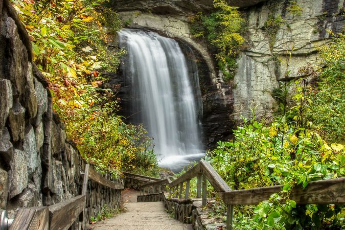 """Stairs to Looking Glass Falls"" by Jason Penland Photography"