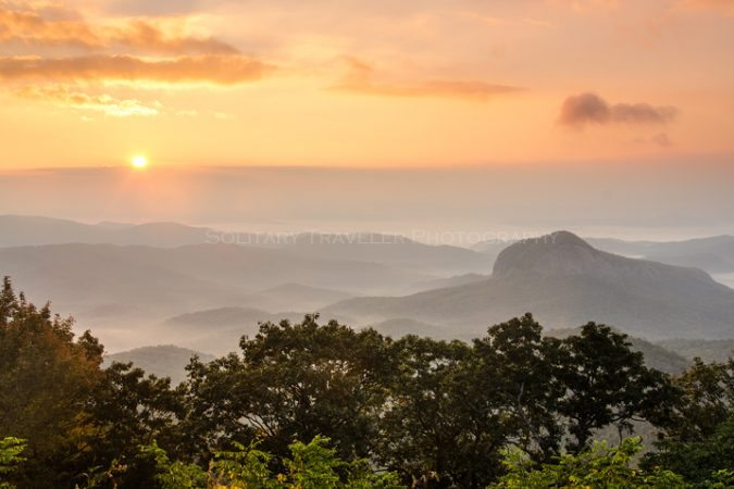 """Looking Glass Rock Overlook, Milepost 417"" by Solitary Traveler Photography"