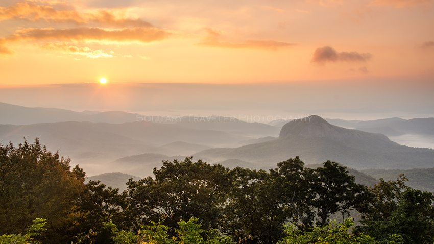 """""""Looking Glass Rock Overlook, Milepost 417"""" by Solitary Traveler Photography"""