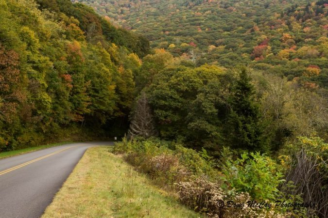 """""""Autumn Drive on the Parkway, Milepost 445"""" by Doug McCoy Photography"""