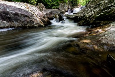 """""""Cascades on the Boone Fork Trail, Milepost 296"""" by Victor Ellison"""