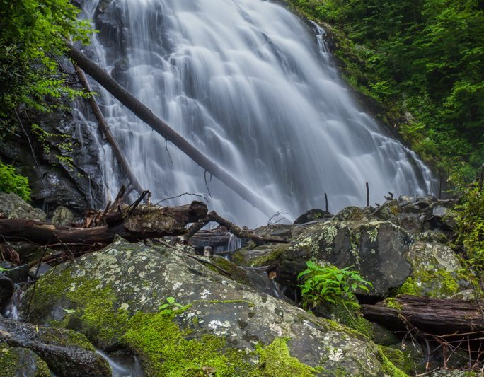"""Crabtree Falls, Milepost 339.5"" by Waterfalls of Western North Carolina"