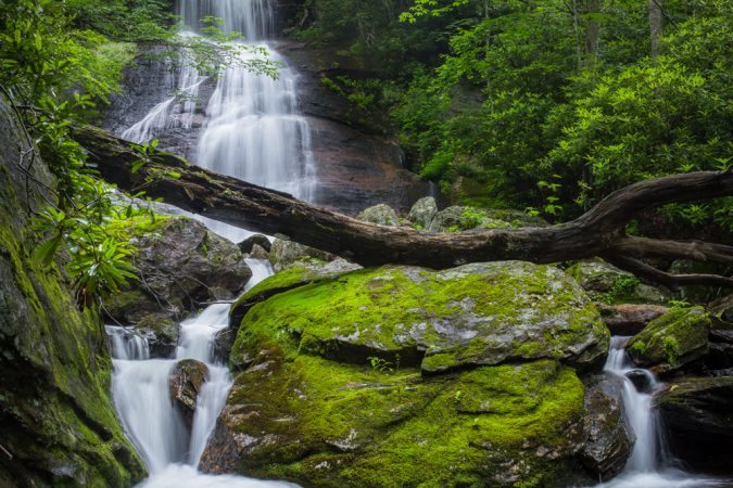 """Dill Falls near Milepost 422"" by Waterfalls of Western North Carolina"