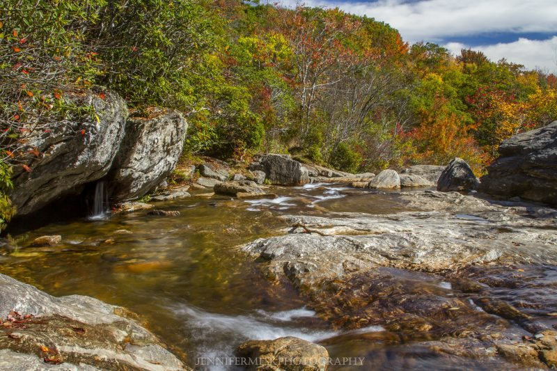 """Graveyard Fields and Falls, Milepost 418"" by Jennifer Mesk Photography"
