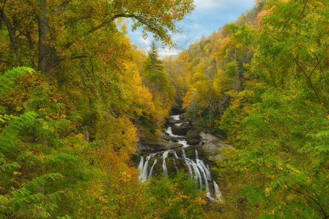"""Cullasaja Waterfalls in the Nantahala National Forest"" by Gwen Cross Photography"