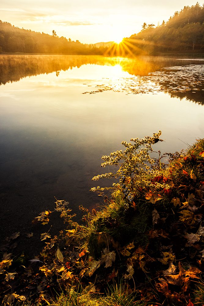 """Sunrise at Bass Lake, Milepost 294"" by Victor Ellison Fine Art Photography"