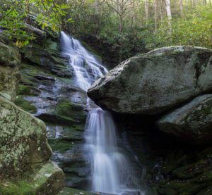 """""""Upper Waterfall on Little Lost Cove Creek, near Linville Falls"""" by Waterfalls of Western North Carolina"""