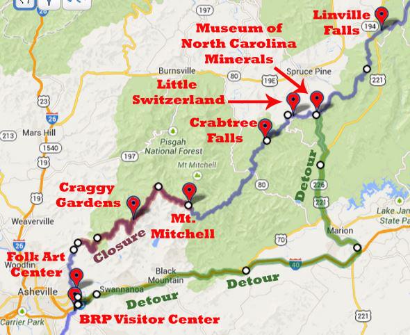 Blue Ridge Parkway Map Long Term
