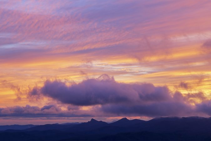 """Winter Sunset Over Table Rock and Hawksbill"" by Victor Ellison Fine Art Photography"