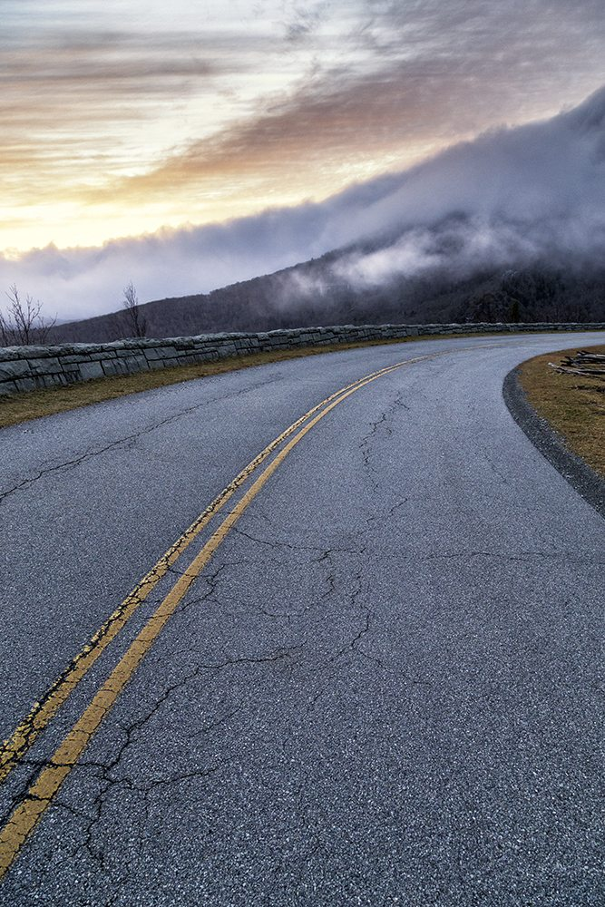 """Fog at Milepost 303"" by Victor Ellison Fine Art Photography"