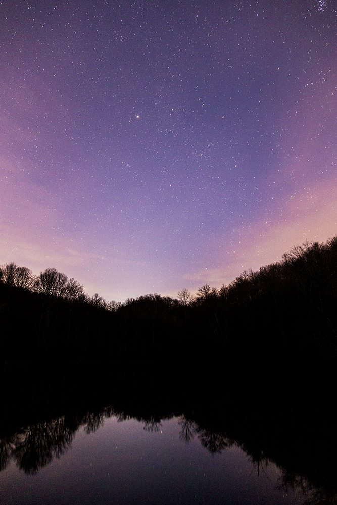 """Stars over Sims Pond"" by Victor Ellison Fine Art Photography"