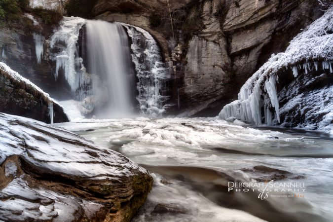 """Ice At Looking Glass Falls"" by Deborah Scannell Photography"