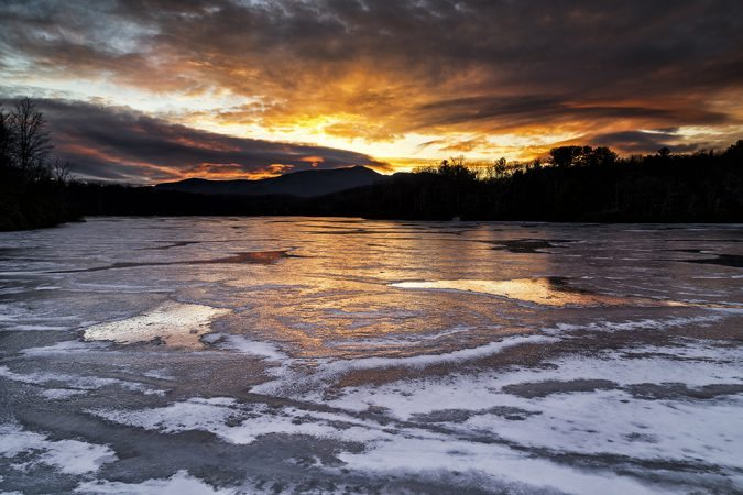 """Frozen Price Lake"" by Victor Ellison Fine Art Photography"