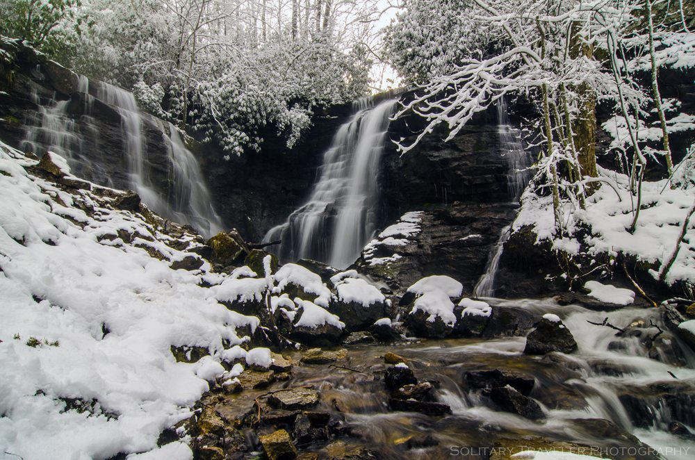"""Snowy Soco Falls"" by Solitary Traveler Photography"