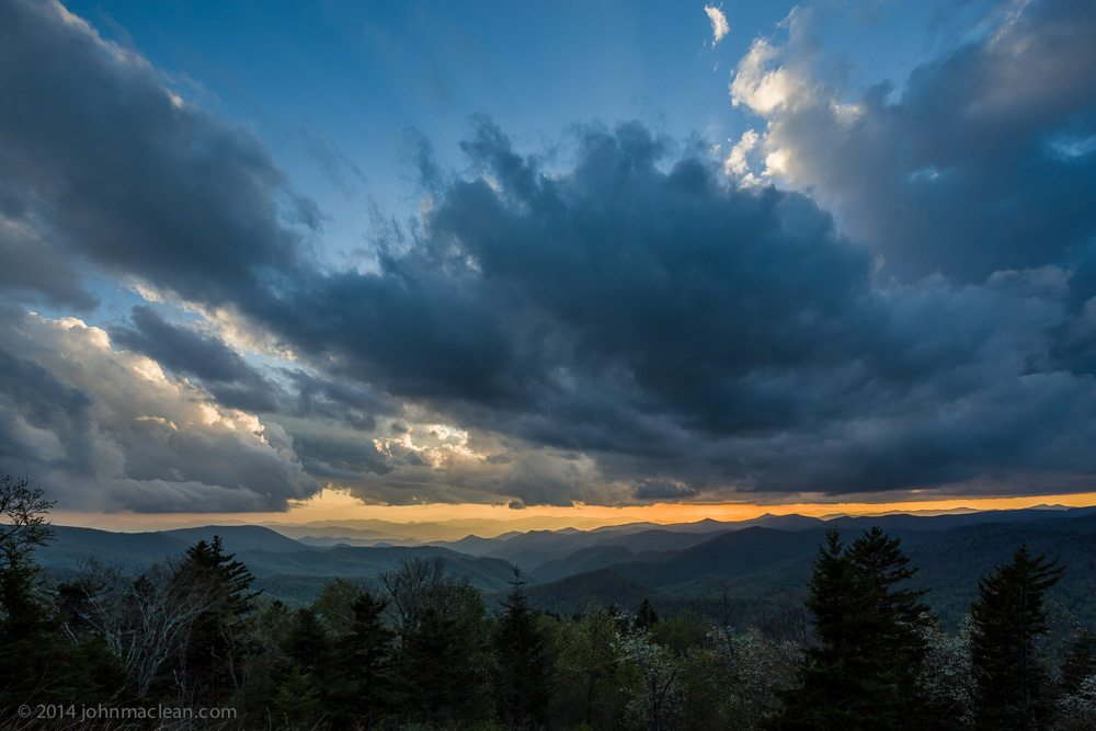"""Storm Clouds at Sunset"" by John MacLean Photography"