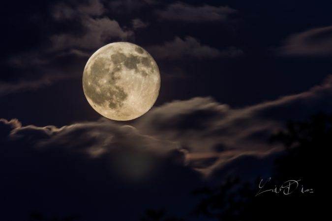 """Super Moon at Balsam Gap"" by Luis Diaz"