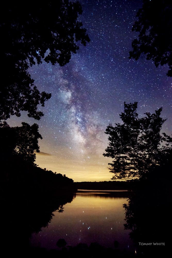 """The Milky Way at Price Lake, Milepost 296.7"" by Tommy White Photography"