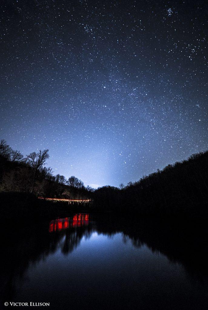 """Headlights under Stars"" by Victor Ellison Fine Art Photography"