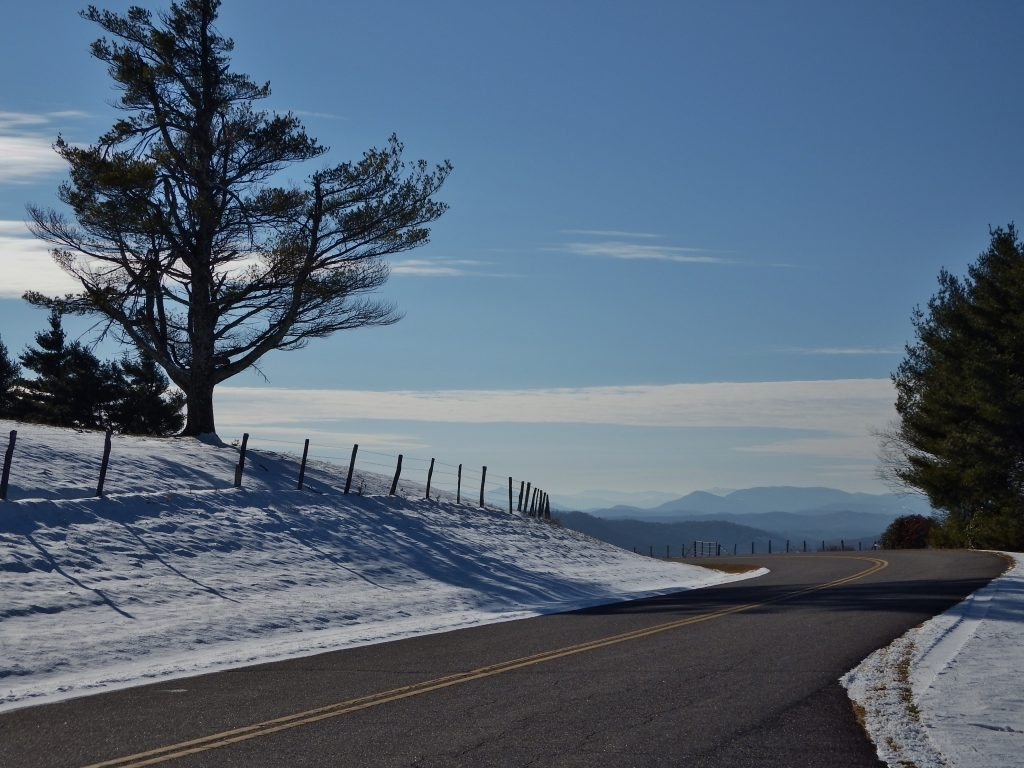 """""""Snow at Mt. Jefferson Overlook, Milepost 266.8"""" by Patricia Monica"""