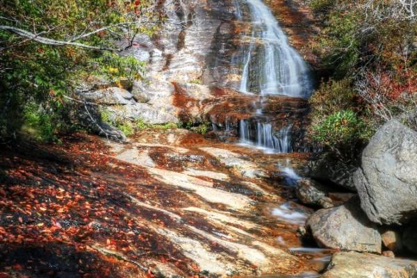 Graveyard Fields Waterfall, Milepost 418