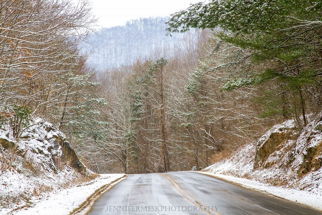 """""""A Dusting of Snow on the Parkway"""" by Jennifer Mesk Photography"""