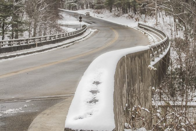 """Snow Parkway Entrance"" by Jennifer Mesk Photography"