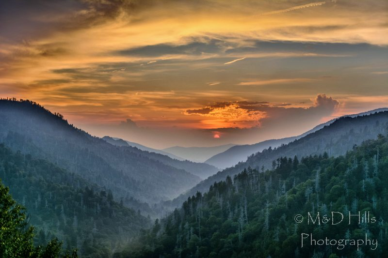 """Classic Smokies Sunset"" by M&D Hills Photography"
