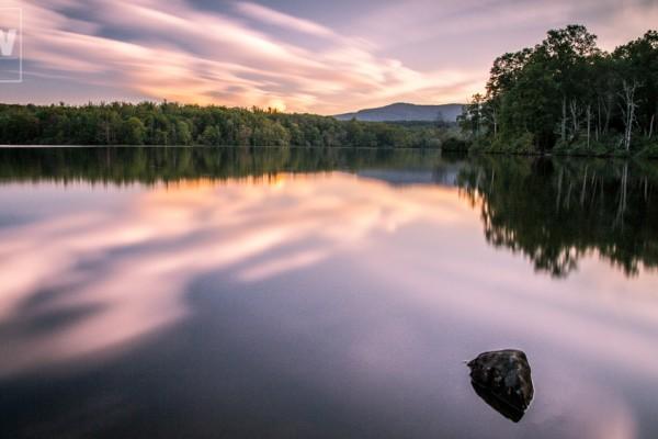 Pink Sunset at Price Lake