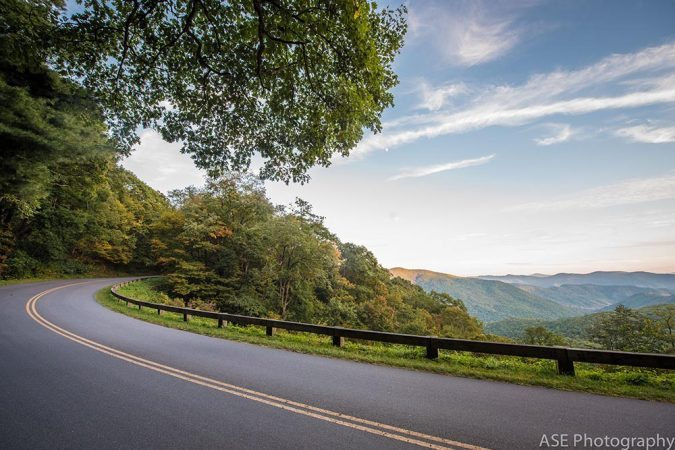 """Parkway Curve near Milepost 375"" by ASE Photography"