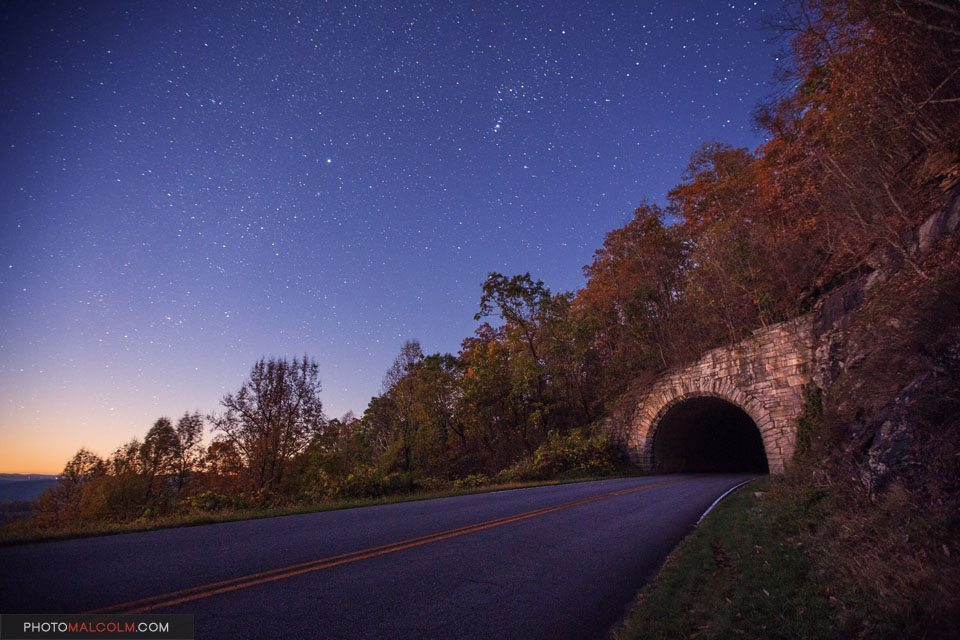 """Stars over Ferrin Knob Tunnel, Milepost 401"" by Malcolm MacGregor Photography"