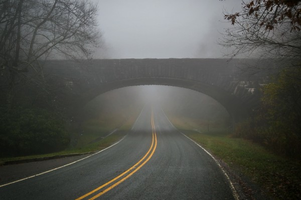 Holloway Mountain Road in Fog