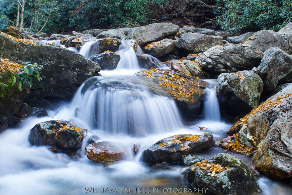 """Downstream of Skinny Dip Falls, Milepost 417"" by William Trinkle Photography"