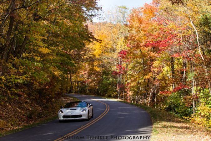 """""""Parkway North of View Lane Pinnacle Overlook"""" by William Trinkle Photography"""