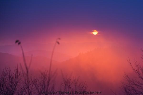 Mt. Mitchell Sunrise, Milepost 355.4