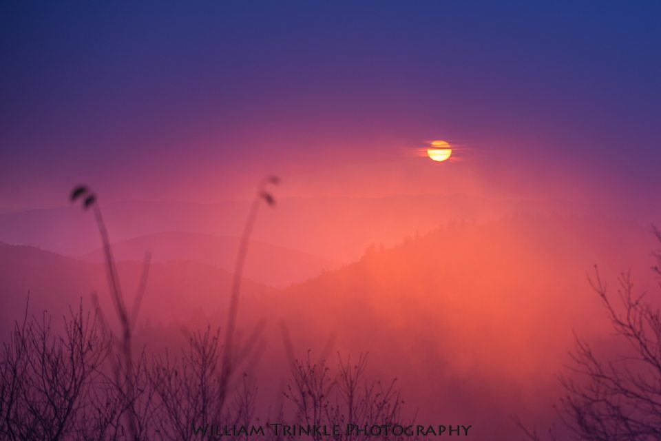 """""""Mt. Mitchell Sunrise, Milepost 355.4"""" by William Trinkle Photography"""