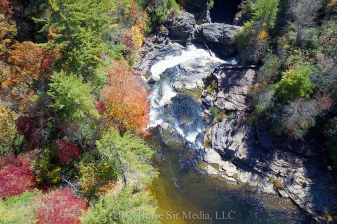 """""""Aerial View of Linville Falls"""" by Brave Sir Media"""