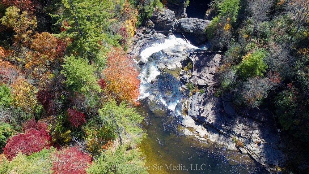 """Aerial View of Linville Falls"" by Brave Sir Media"